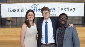 Executive Director Rachel Assi; Festival Director Alex McDonald; and 2016 ExxonMobil CSJP intern Carnell Simmons